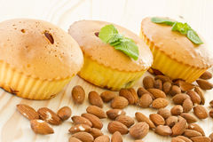 Muffins with almonds and fruit Stock Photo
