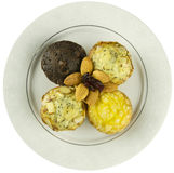 Muffins With Almonds Top View Royalty Free Stock Image