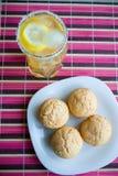 Muffins&Lemonade Imagens de Stock