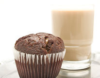 Muffins And Coffee With Milk Stock Photos