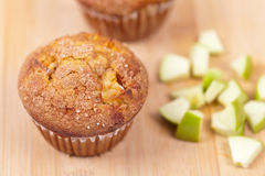 Muffins with apple Royalty Free Stock Photos