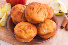 Muffins with apple and cinnamon Stock Images