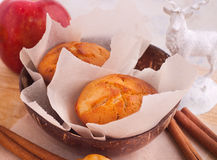 Muffins with apple and cinnamon Royalty Free Stock Image