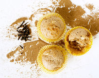 Muffins with apple, cloves and cinnamon. On white Royalty Free Stock Photography
