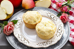 Muffins with apple Stock Photos