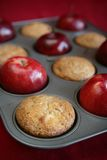Muffins and apples Royalty Free Stock Photography