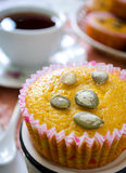 Muffins with apples and pumpkin seeds Royalty Free Stock Photo