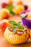 Muffins with apricots Royalty Free Stock Photography