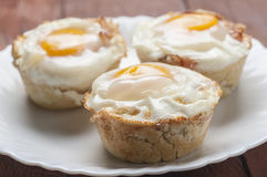 Muffins bacon and egg series 03 Royalty Free Stock Photo