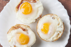 Muffins bacon and egg series 04 Stock Photos