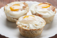 Muffins bacon and egg series 08 Royalty Free Stock Photography