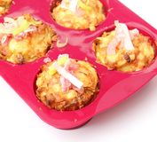 Muffins with bacon and leek Royalty Free Stock Photography
