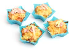 Muffins with bacon and leeks Stock Image