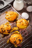 Muffins with baking ingredients Stock Photo