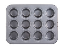 Muffins baking tray Stock Photo