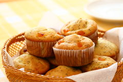 Muffins in a basket Stock Photography