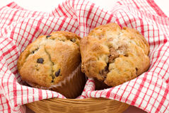 Muffins in a Basket Royalty Free Stock Photos