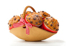 Muffins in a basket Stock Photo