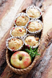 Muffins with becon and apple Stock Photo