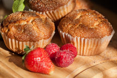 Muffins with berries Royalty Free Stock Image