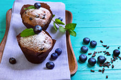 Muffins with berries blueberry Royalty Free Stock Photos