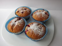 Muffins with berries Stock Images
