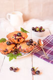 Muffins with black currants. Royalty Free Stock Photo