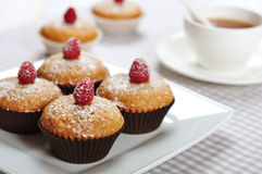 Muffins with bran Stock Photo