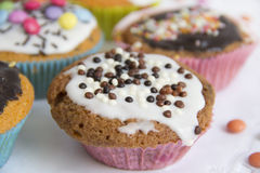 Muffins on cake top detail Stock Photography