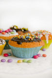 Muffins on cake top detail Stock Photo