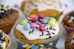 Muffins on cake top detail Royalty Free Stock Photos