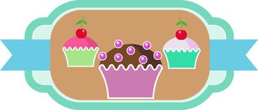 Muffins cakes sweets confectionary Stock Photography