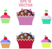 Muffins cakes sweets confectionary Royalty Free Stock Images