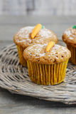 Muffins with carrot Royalty Free Stock Photography