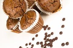 Muffins Chbocolate Στοκ εικόνα με δικαίωμα ελεύθερης χρήσης