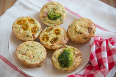 Muffins with cheese and vegetables Stock Image