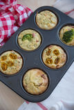 Muffins with cheese and vegetables Stock Photos