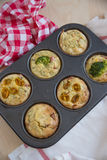Muffins with cheese and vegetables Royalty Free Stock Photography