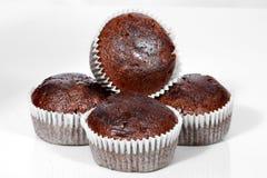 Muffins, Chocolade cupcakes stock foto