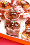 Muffins with chocolate Royalty Free Stock Photo