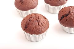 Muffins of chocolate Royalty Free Stock Images