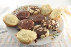 Muffins with Chocolate Topping Stock Image