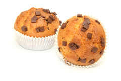 Muffins with chocolate Royalty Free Stock Images