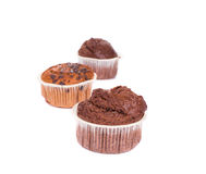 Muffins with chocolate. Stock Photo