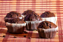 The muffins with chocolate Stock Photo