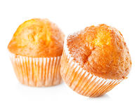 Muffins close-up isolated on white background Stock Photo