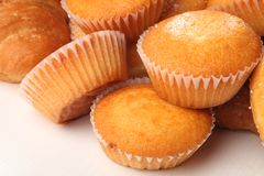 Muffins. Close-up of muffins on white background Stock Photo