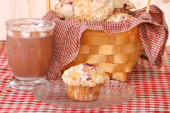 Muffins and Cocoa Royalty Free Stock Image