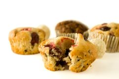 Muffins with coconut balls Royalty Free Stock Photos