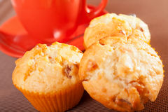 Muffins with coconuts Stock Photos